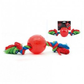 Pelota con Cuerda Radical goma roja indestructible