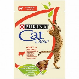 Purina Cat Chow Adult 85 g con buey y berenjenas
