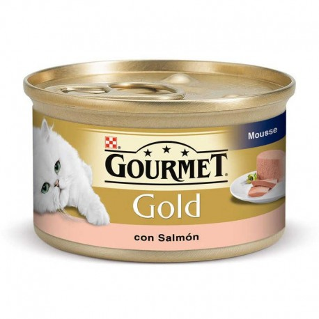 Mousse Purina Gourmet Gold con Salmón 85 g