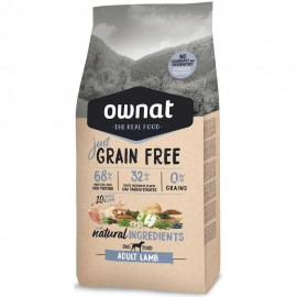 Ownat Just Grain Freee Adulto de cordero frontal
