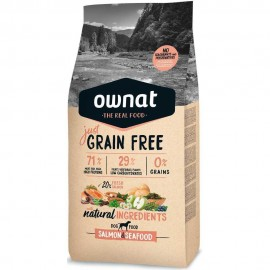 Ownat Just Grain Free Adulto de salmón frontal