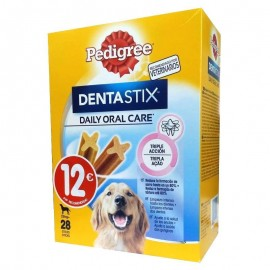 Limpiador Dental Pedigree Dentastix +25 kg caja 28 sticks