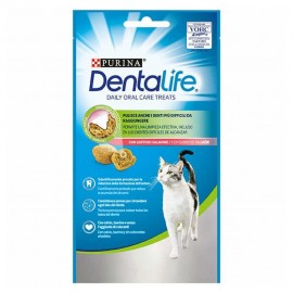 Snacks DentaLife gato Daily Oral Care Treats de salmón 40 g