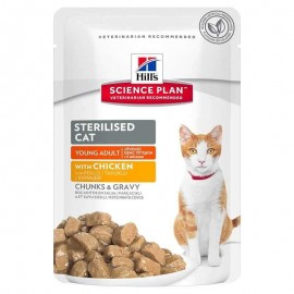 Hills Sciencie Plan Cat Sterilised Young Adult con pollo pouch 85 g