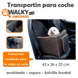 Transportín Acolchado para coche Walky Pet Drive Box Plus