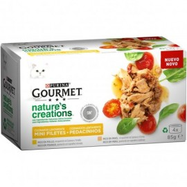 Purina Gourmet Mini Filetes rico en pollo y pavo 4x85 g