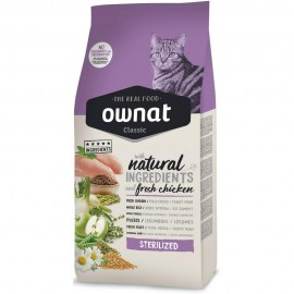 Ownat Gatos Sterilized 4 kg frontal