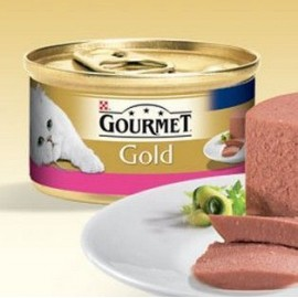 Mousse Purina Gourmet Gold con Buey 85 g