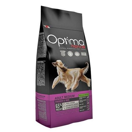 Optima Nova Adult Medium con pollo y arroz