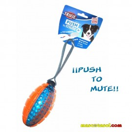 Pelota de Rugby Trixie Super Strong 13 cm pito y mute