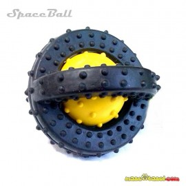 Juguete Goma SpaceBall 6 cm con cascabel