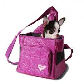 Bolso Transportín Pinky Lilly para perritos mini